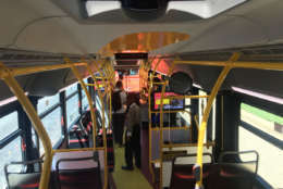 The interior of a Circulator bus is seen in this WTOP file photo. (WTOP/Max Smith)