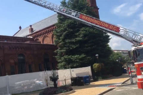 Smithsonian Castle briefly evacuated after fire