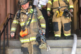 D.C. fire crews responded to a small fire on the fourth floor of the Smithsonian Castle. (Courtesy D.C. Fire and EMS)