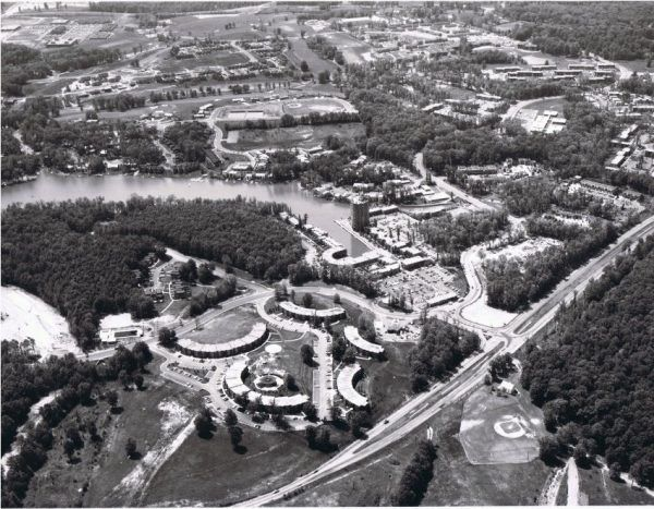 Lake Anne Village Center, which was recently added to the National Register of Historic Places, faced some challenges on its path to becoming the nation's first zoned planned-unit community. (Courtesy Reston Historic Trust and Museum)
