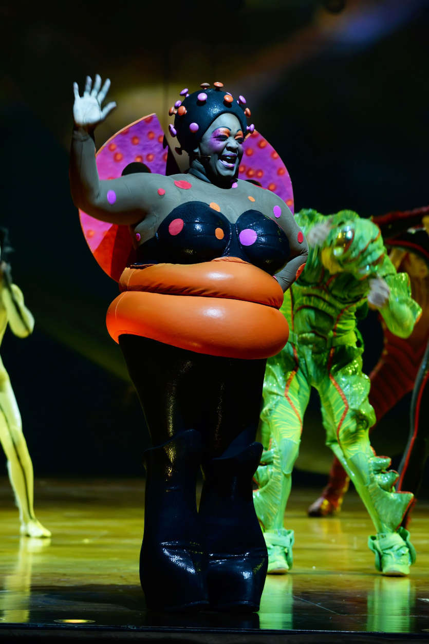 "Artist Michelle Matlock as ""The Ladybug"" in Cirque du Soleil's ""OVO."" (Courtesy Shannon Finney/shannonfinneyphotography.com)"