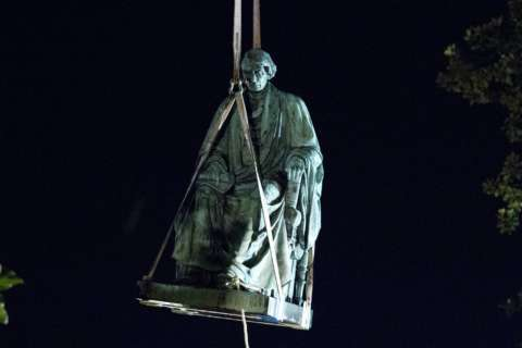 Taney statue in Annapolis removed overnight