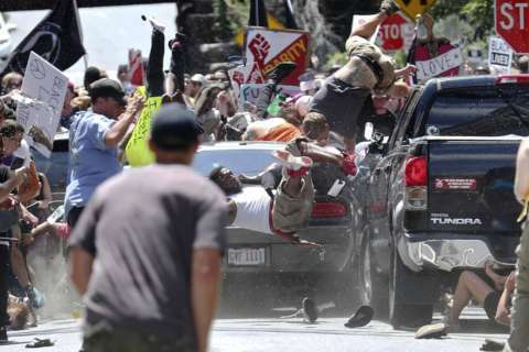 Photos: White supremacists clash with protesters in Charlottesville