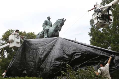 Charlottesville judge: Remove tarps from 2 Confederate statues
