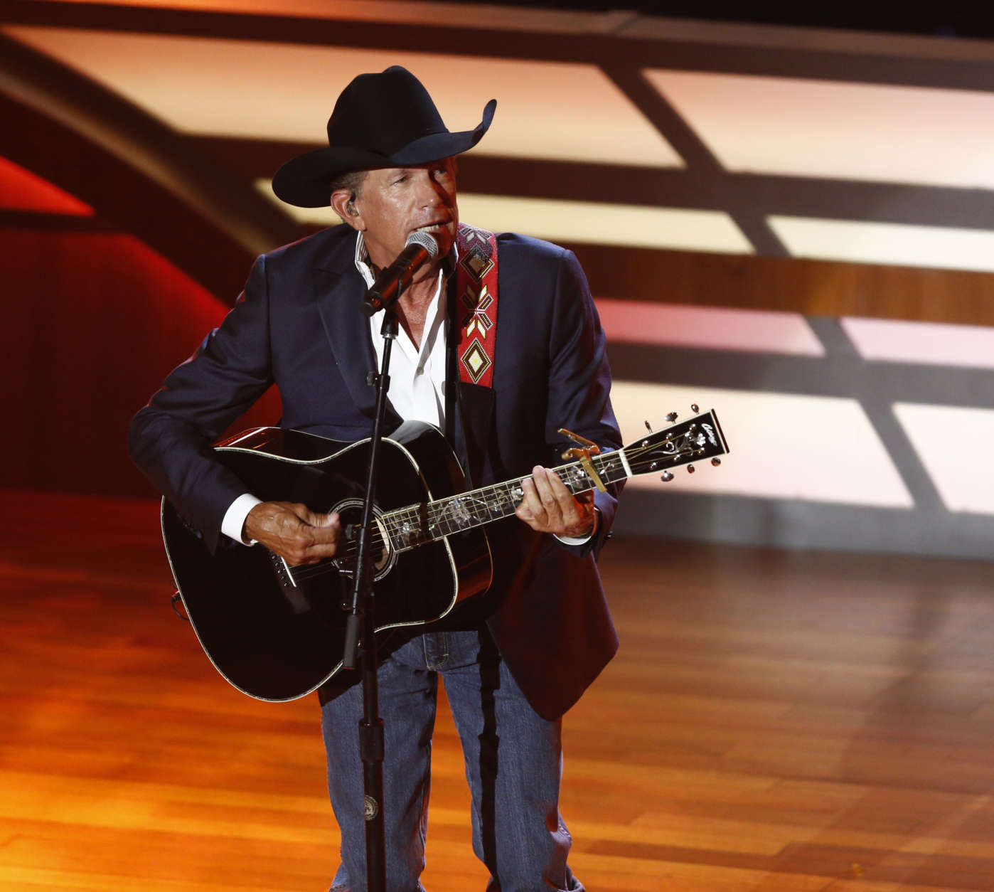George Strait performs during the 11th annual ACM Honors at the Ryman Auditorium on Wednesday, Aug. 23, 2017, in Nashville, Tenn. (Photo by Wade Payne/Invision/AP)