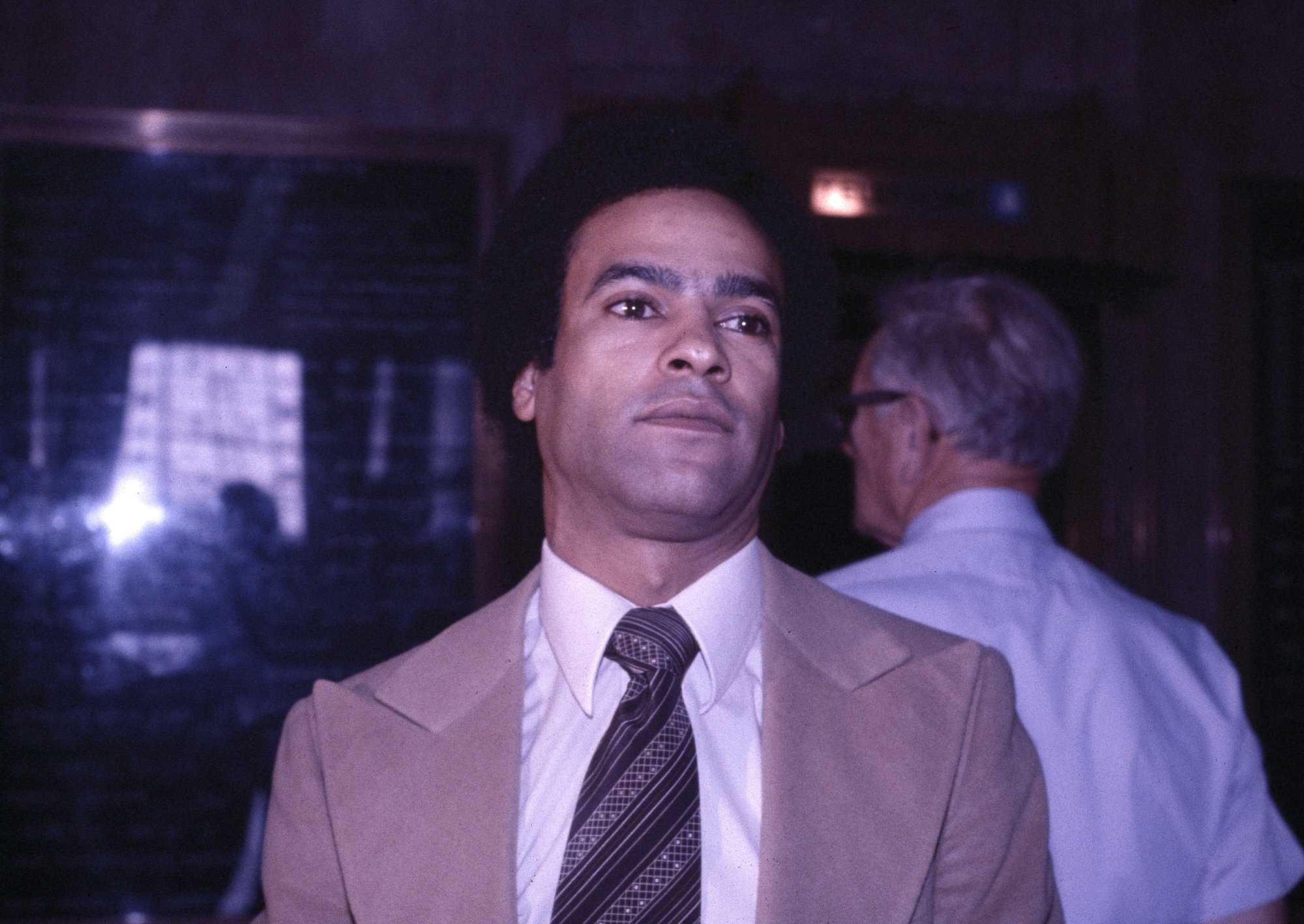 Former Black Panther leader Huey Newton is pictured at the courthouse in Oakland, Calif., March 23, 1979. (AP Photo/Paul Sakuma)