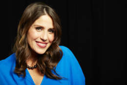 """Actress Soleil Moon Frye poses for a portrait in promotion of her upcoming role hosting the 3rd season of """"Home Made Simple,"""" on OWN, on Tuesday, Oct. 15, 2013 in New York. (Photo by Dan Hallman/Invision/AP)"""