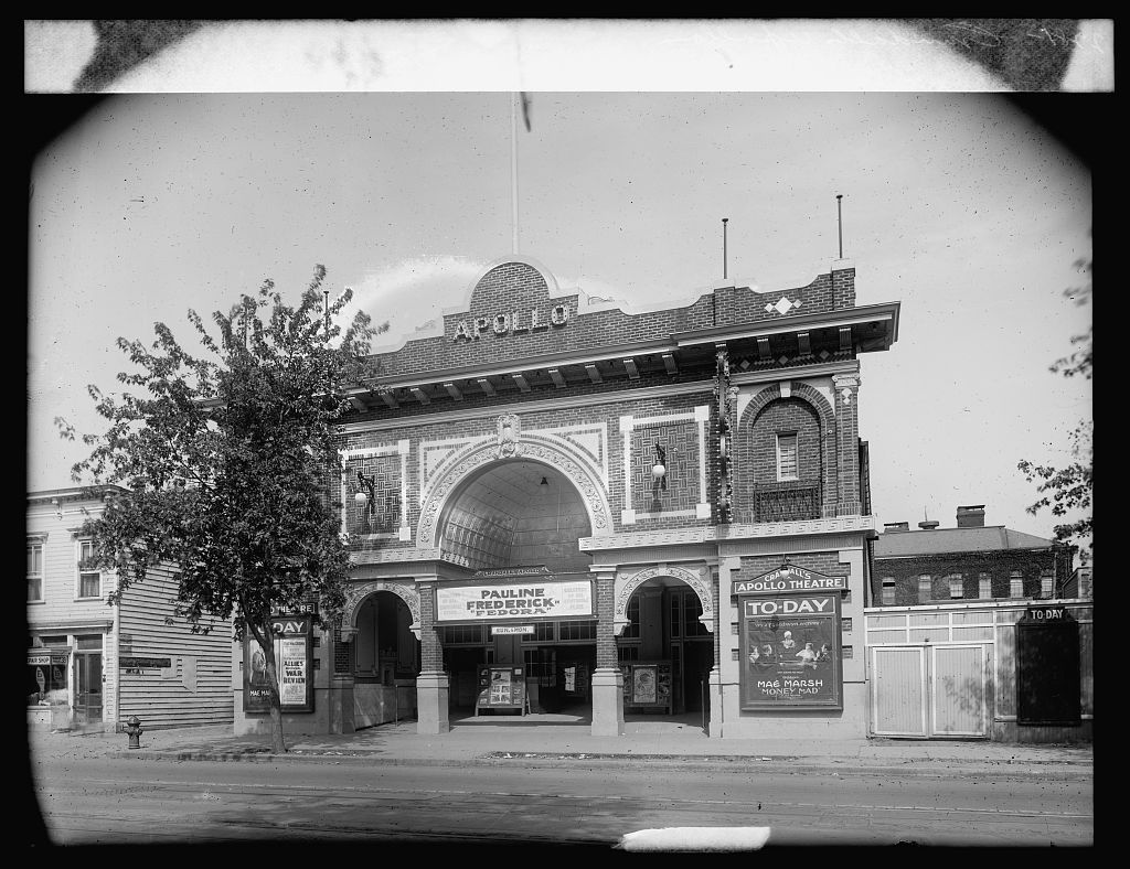 The Apollo Theater on H Street NE in Washington, D.C. (National Photo Company Collection, Library of Congress)
