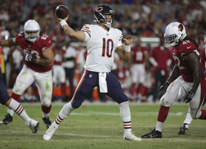 Bears to give Mitchell Trubisky playing time with starters