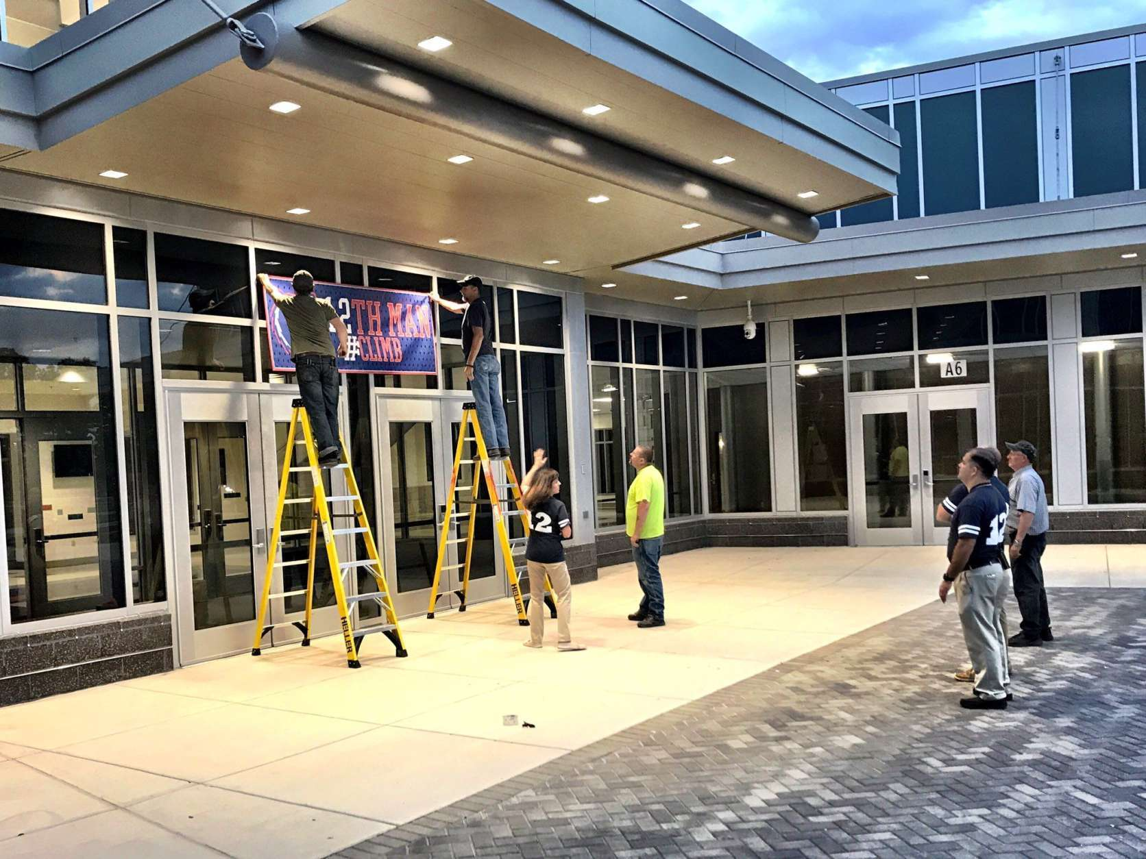 Brambleton Middle School prepares to welcome students as Loudoun County classes open. (WTOP/Neal Augenstein)