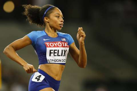 Allyson Felix named to US 4×400 relay pool for worlds