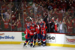 The Capitals are the champs of fan satisification in D.C. according to a new survey by J.D. Power.   They scored 797 points out of a possible 1,000 in seven factors ranging from seating area and game experience, security and ushers, leaving the game, arriving at the game, food and beverage, ticket purchase, and souvenirs and merchandise. (AP Photo/Carolyn Kaster)