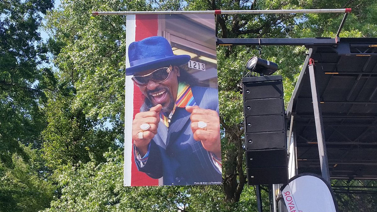 At the Chuck Brown Memorial Park in Northeast, DC his legend carries on with the celebration 3rd annual Chuck Brown Day. (WTOP/Kathy Stewart)