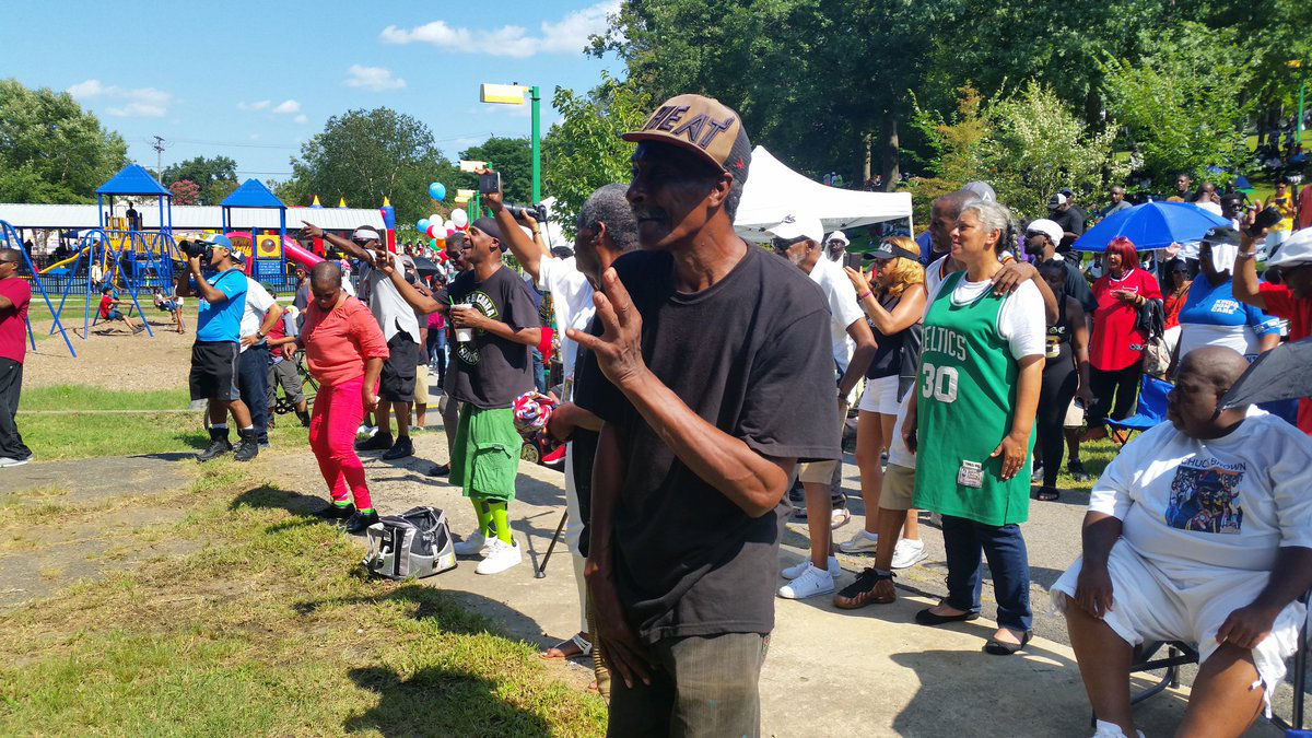 """It's a family oriented event and good music,"" said Dorothy Shipman who attended Chuck Brown Day from Largo, Maryland. (WTOP/Kathy Stewart)"