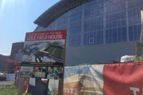 Basketball out, football in at the newly renovated University of Maryland Cole Field House (Photos)