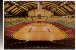 A look inside the Cole Field House, the way it looked if it were hosting a big basketball game with the original seat colors circa 1955. (Courtesy Univeristy of Maryland College Park)