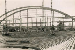 Cole Field House during its construction in 1954. (Courtesy University of Maryland College Park)