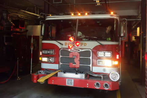 Order breakfast, help an injured DC firefighter