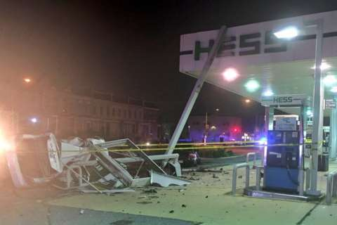 Fiery DC gas station crash kills 1, injures another
