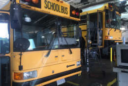 A Fairfax County school bus is seen in this WTOP file photo. (WTOP/Max Smith)