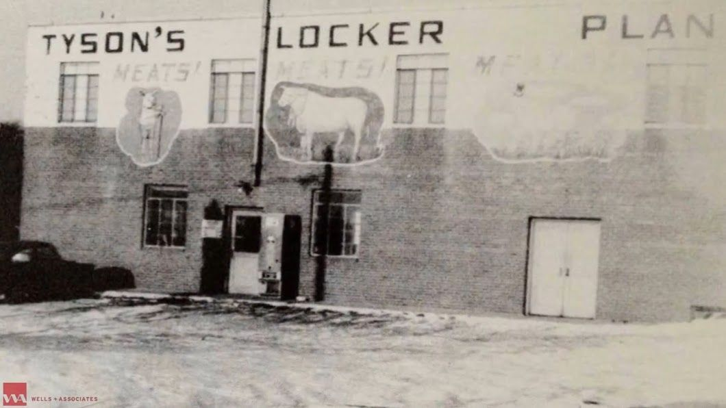 Tysons Locker Plant in 1962. It's Leesburg Pike location is near present-day Tysons Galleria.  (Courtesy Tysons Partnership)