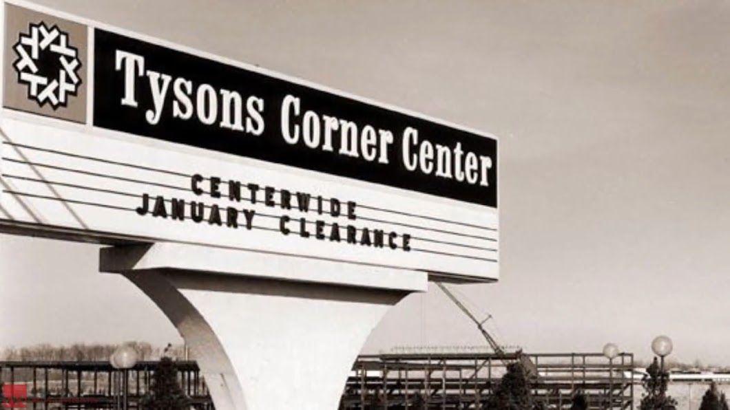 Development at Tysons Corner Center around the mall property in 1969. (Courtesy Tysons Partnership)