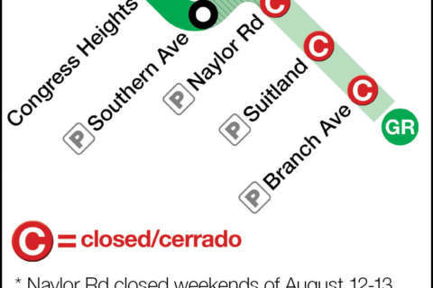 WTOP track work guide: Green Line shutdown Aug. 5-20