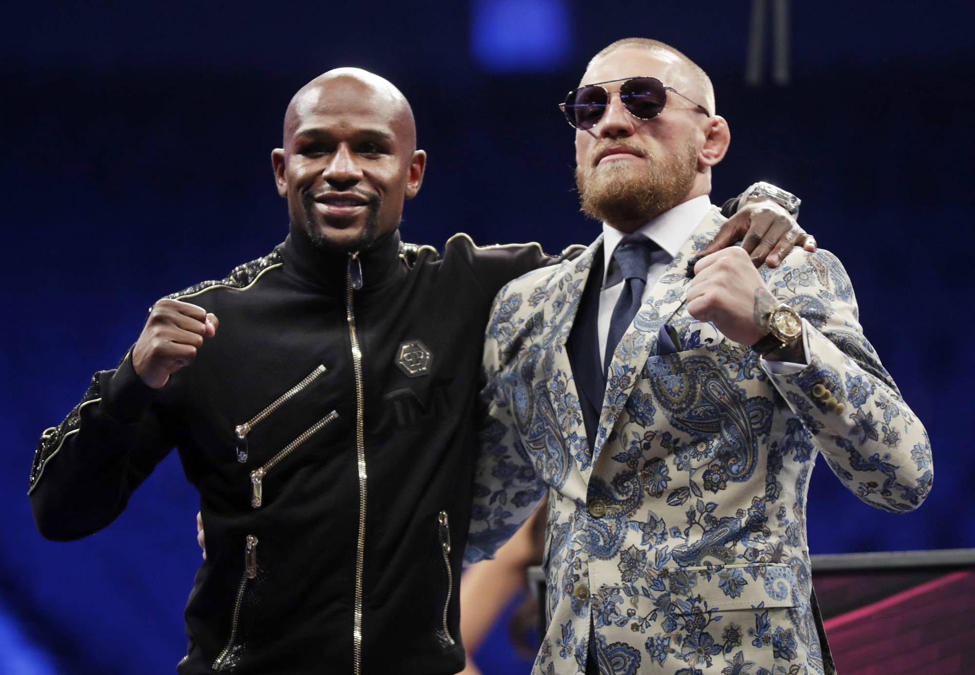 Smiles all around as Mayweather, McGregor savor fight | WTOP