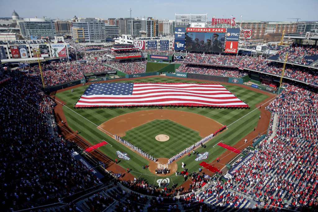 The Nationals came in third place in fan satisfication in the JD Power Survey. They scored 764 points out of a possible 1,000 in things such as seating area and game experience, security and ushers, leaving the game, arriving at the game, food and beverage, ticket purchase and souvenirs and merchandise.   While the Nats play in the newest stadium in D.C., Nationals Ballpark barely scored ahead of RFK Stadium, their old home, in terms of fan satisfaction. FILE. (AP Photo/Andrew Harnik, File)