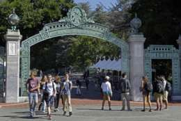 Sather Gate CAL Students, Sather Gate, University of California Berkeley