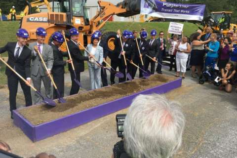 Purple Line construction kicks off with a bang