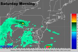 Saturday morning radar. (Courtesy: The Weather Company)