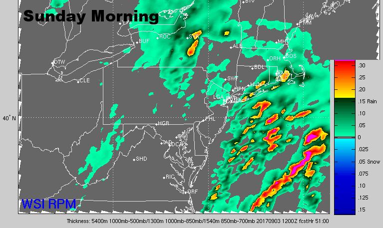 Sunday morning radar. (Courtesy: The Weather Company)