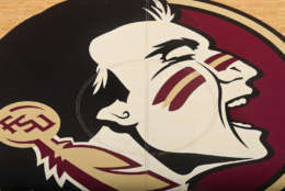 Some teams, like the Florida State Seminoles, have entered into agreements with Native American tribes they're named after to avoid controversy.  Florida State consults the Seminole tribe for any changes to its logo and has had an agreement with the tribe about using the logo and some traditions involving its mascot at football and basketball games. (AP Photo/Phil Sears)
