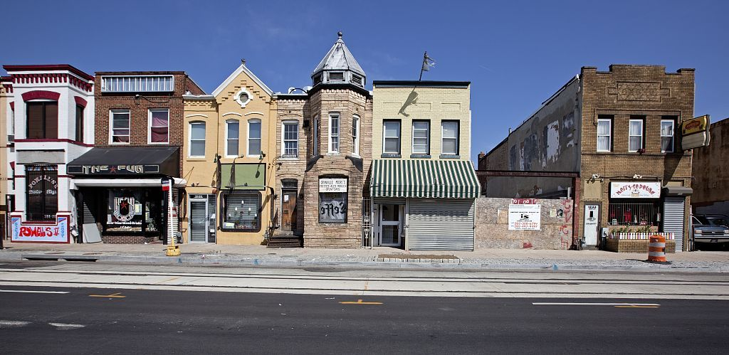 A 2010 photo of buildings on H Street NE, near the intersection with 12th Street. The George F. Landegger Collection of District of Columbia Photographs in Carol M. Highsmith's America, Library of Congress, Prints and Photographs Division.