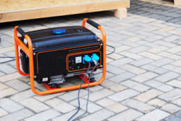Gasoline Generator on the Building Site