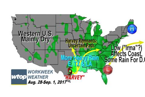 Workweek weather: Coastal storm brings rain, return of humidity