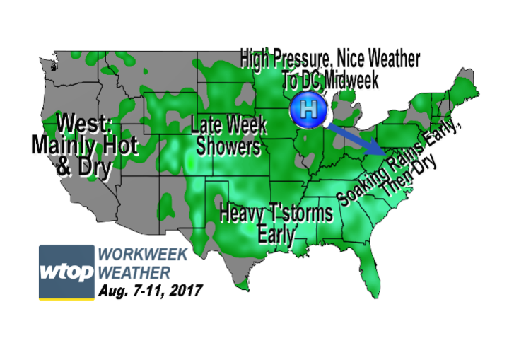 Weather Forecast Archives WTOP - Us pressure forecast map