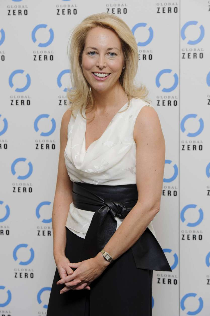 FILE - In this June. 21, 2011, file photo, former U.S. CIA Operations Officer, Valerie Plame Wilson arrives for the UK film premiere of Countdown to Zero in London. Wilson launched an online fundraiser on Aug. 18, 2017, looking to crowdfund enough money to buy Twitter so President Donald Trump can't use it. (AP Photo/Jonathan Short, File)