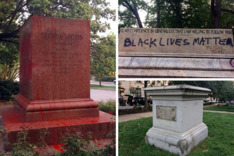Baltimore tears down controversial statues, including Confederate memorials