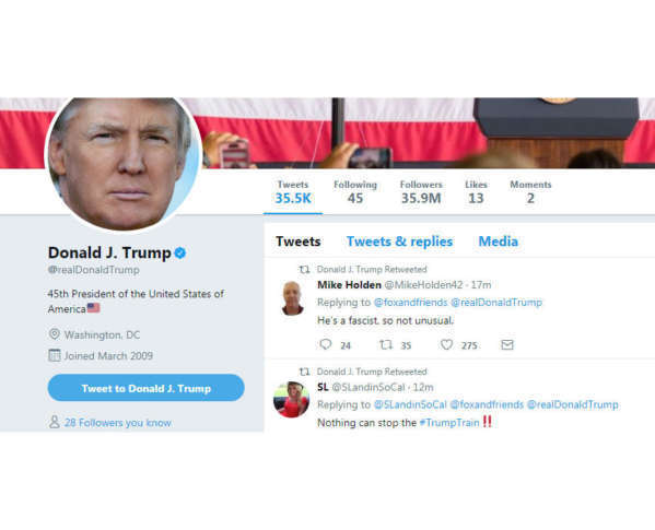 Oops? Trump retweets critic saying 'he's a fascist' - WTOP Oops? Trump retweets critic saying 'he's a fascist' - 웹
