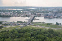 A view of the current Frederick Douglass Memorial Bridge (Courtesy DDOT)