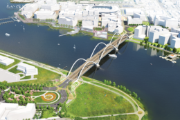 The $441 million project will also create new traffic ovals east of the river connecting South Capitol Street, Suitland Parkway and Anacostia Drive; and west of the river connecting South Capitol Street, Potomac Avenue and Q Street. (Courtesy DDOT)