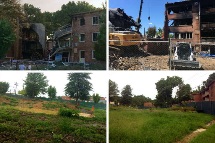 1 year after horrific silver spring explosion victims still in the site of the silver spring apartment explosion a few days after the fire top and a year later bottom wtopnick iannellicomposite mightylinksfo