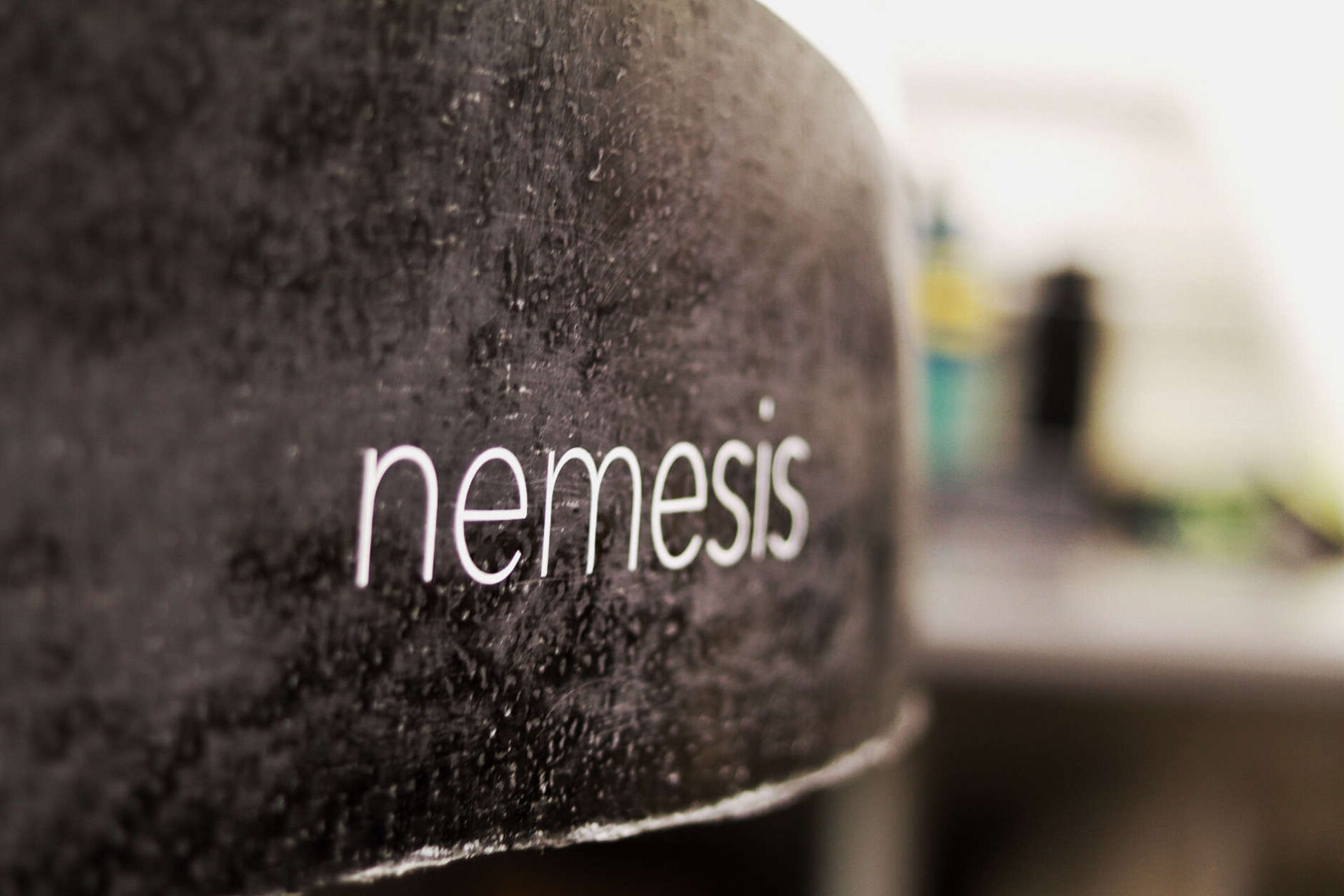 Nemesis is the name of the aluminum- and carbon-fiber pod that could break 100 mph designed by University of Maryland students for the SpaceX Hyperloop pod competition. (WTOP/Kate Ryan)