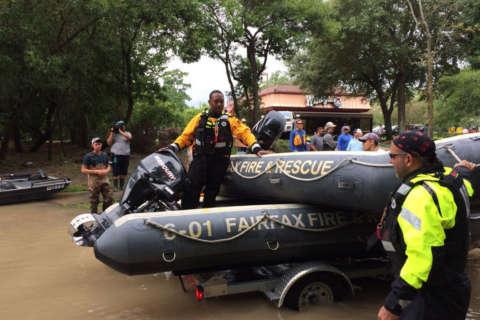 Fairfax Co. team rescues 6 in Harvey aftermath, begins door-to-door search