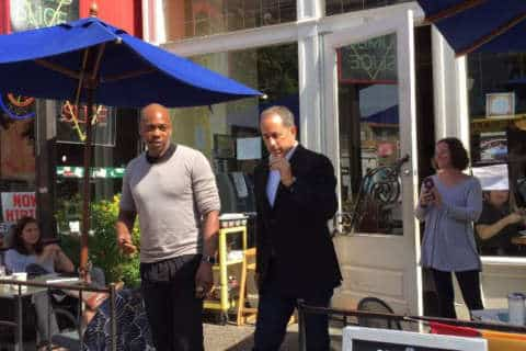 Seinfeld, Chappelle grab coffee in DC — camera crews in tow