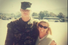 """""""I love the Marines,"""" said Anderson. """"My son was a Marine, and it just seems fitting that I run the Marine Corps [Marathon]."""" (Courtesy Lisa Anderson)"""