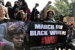 Joined by the March for Black Women, the crowds came together as they walked to the Justice Department and the National Mall. (WTOP/Dick Uliano)