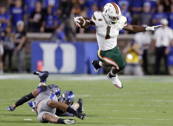 Miami shuts down Duke in 31-6 win